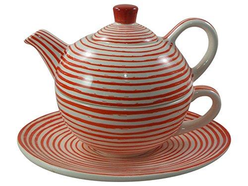 Classico-tè per un arredamento disponibili striscia in rosso e bianco