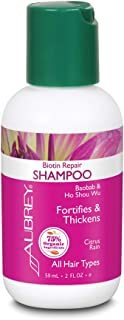 Aubrey Biotin Repair Shampoo | Helps Strengthen Fine, Thin Hair | Baobab Oil & Ho Shou Wu | 75% Organic Ingredients | All ...