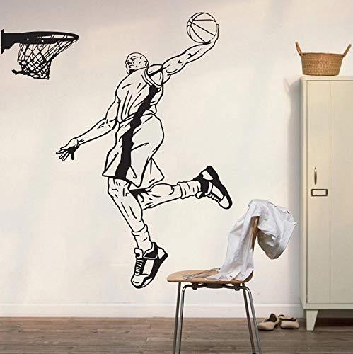 yaonuli Basketballspieler Wandaufkleber Hauptdekoration Vinyl Wandaufkleber Dekoration Wandbild 63X72cm