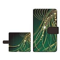 液晶保護ガラスフィルム付き スマホケース 手帳型 arrows J アローズ ジェイ 対応 ジャパネットたかた スライドタイプ カード収納 スタンド機能 内側カラー:ブラウン 光のシャワー