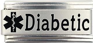 Diabetic Medical Alert Italian Charm Bracelet Jewelry Link
