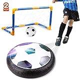 amzdeal Air Football Kit (1 x Hover Ball + 1 Mini Soccer +2 Goal di Calcio +1 Gas Needle),Hover Ball Gioco Indoor & Outdoor (2 Goal)