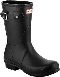 [ハンター] レインブーツ 長靴 ブーツ レディース WOMENS ORIGINAL SHORT BOOT WFS1000RMA ブラック