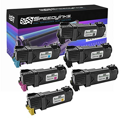 Speedy Inks Compatible Toner Cartridge Replacement for Dell 2150 High-Yield (3 Black, 1 Cyan, 1 Magenta, 1 Yellow, 6-Pack)