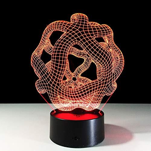 KangYD 3D Night Light Abstract Geometric Decor Lamp, LED Illusion Lamp, D - Remote Crack White(16 Color), Gift for Girl, Desk Lamp, Bar Decor, Birthday Gift, Decor Lights