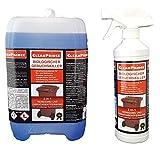 CP400250-2500 Bio Geruchskiller + Reiniger 2,5 Liter Biotonne Geruchsvernichter Vernichtung Gerüche Absorber Mülltonnen Windeleimer Maden Mülleimer Abfluss Abflüsse Geruchsentferner