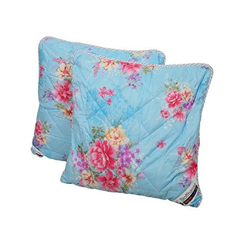 Stoffhanse Kissen 2er Set Blumenmotiv, 80 x 80 cm | Bettwaren | Kopf-Kissen | nach Öko-Tex Standard