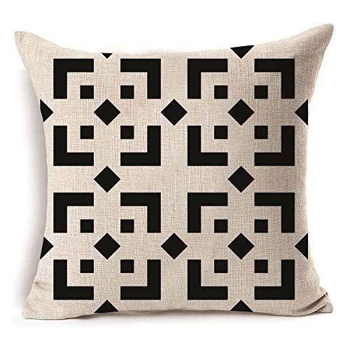 ouyalis Cushion Covers Geometric Cotton Linen Cushion Cover Throw Pillow Home Sofa Decorative Pillowcase-Q