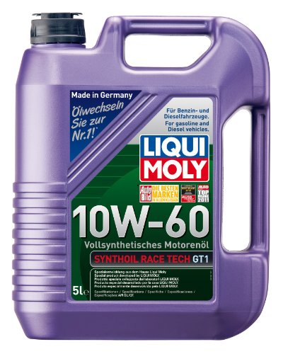 LIQUI MOLY 1391 Synthöl Race Tech Motoröl GT1 10 W-60 5 L