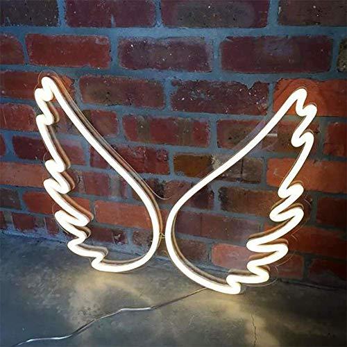Weiß Schmetterlings-Flügel-LED Neon Seil Licht, 4W LED Neon-Leuchten Wasserdicht beständig - für Wände, Fenster, Geschäft, Bar, Hotel Ideal für Weihnachtsbeleuchtung, 45cm * 34cm * 1.4cm,Weiß