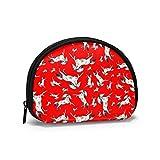 Salto di api del cavallo bianco con valigette Portamonete Portamonete Borsa per portafoglio per rossetto con chiave di carta