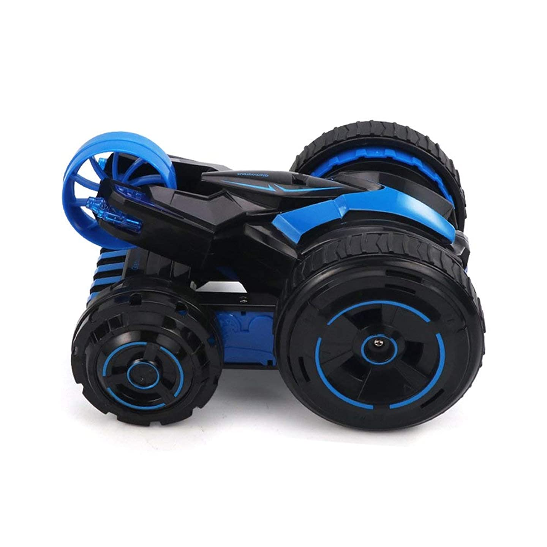特別な差別的トランクJJRC Q49 ACRO 360°Rotation One Key Transform 2.4G Remote Control Stunt Car、Blue