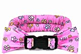 Calm Me Down - Calming Collars for Dog Anxiety - Small, Pink with Paw Prints