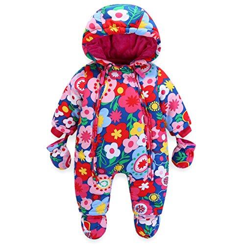Bebé Traje de Nieve Niño con Capucha Mameluco Cremallera Frontal (12-18 Meses)