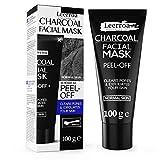 Original Aktivkohle Peeling Gesichtsmaske - 100ml XXL Tube - Schwarze Maske gegen Mitesser und unreine Haut