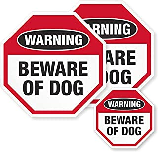 """SmartSign Beware of Dog Warning Decal Set 
