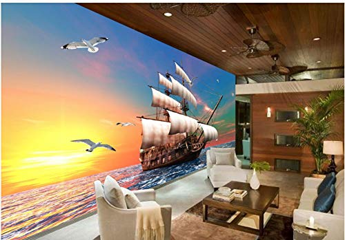 Papel Pintado 3D Murales Pared De Sofá Marinero Hd Foto Mural Pared Fotomurales Decorativos Pared Papel cuadros decoracion salon