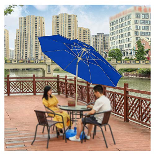 YDDZ Sombrillas de Patio al Aire Libre Sombrillas de Playa, Diseño Plegable Diseño de Doble Techo Protección UV Adecuado para Jardines Terrazas Patios Traseros Piscinas Playas