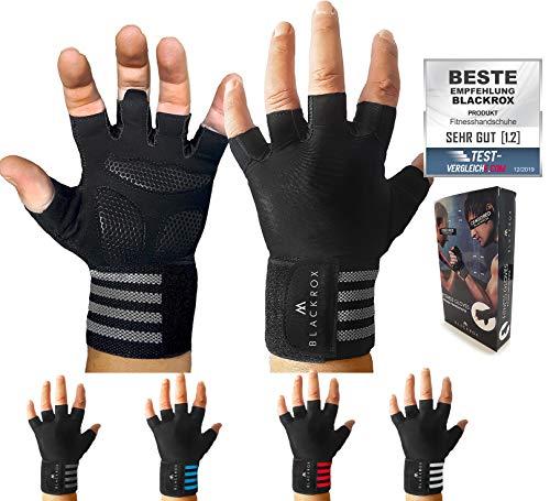 BLACKROX Training Gloves Comparison Winner Fitness Gloves with Wrist Support Men and Women, Gloves for Strength Sports, Gym Gloves, Fitness Gloves, Bodybuilding, Non-Slip Coating