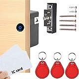 Electronic Cabinet Lock, Hidden DIY RFID Lock ,for Wooden Cabinet Drawer Locker Cupboard Punch-Free, Locker Lock, Wardrobe Lock, Drawer Lock