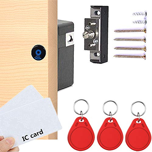 Elektronisches Schrankschloss, verstecktes RFID-Schloss, für Holzschrank, Schublade, Schließfach, Schrankschloss, Schrankschloss, Schubladenschloss