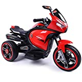 W&HH Elektro Kindermotorrad, Kinder Cross Motorrad, Trike Elektrofahrzeug Mit Licht Und Sound,Rot