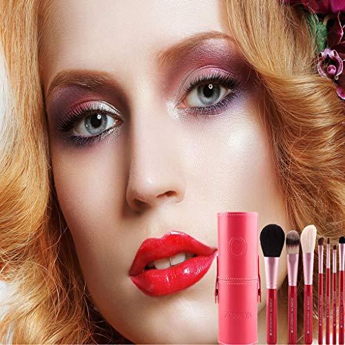 Hunpta@ Pinceaux de Maquillage, ZOREYA 7 Pinceaux cosmétiques conventionnels Peinture à tête Plate Peinture Uniforme (B)