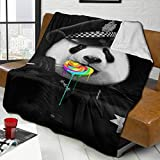 FDGJNB Blanket Lollypop Cop Panda Police Ultra Warm Adult Super Soft Blanket for Couch Or Living Room Bedroom Blanket Throw for Adults & Kids 50'X40'
