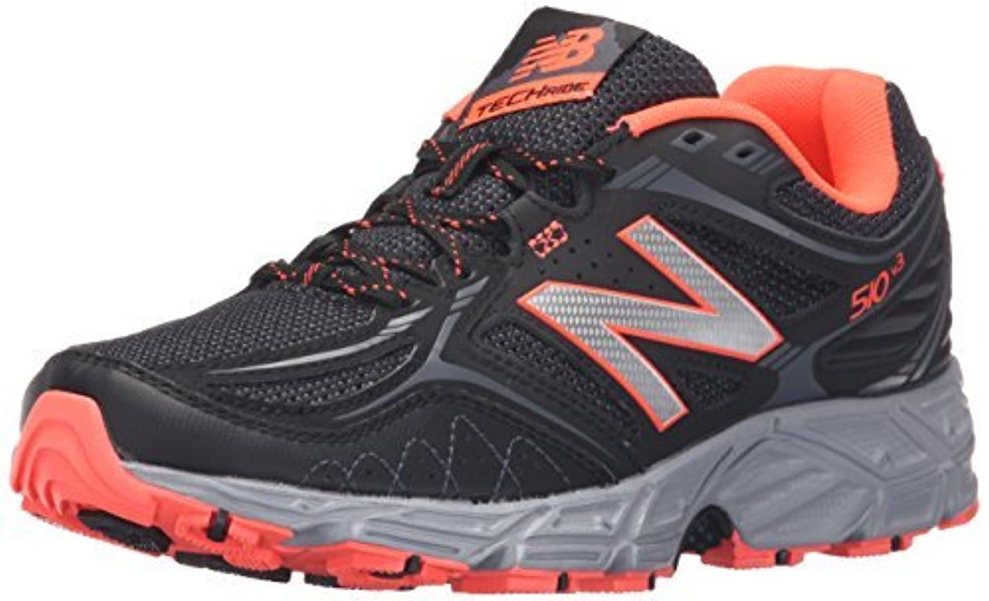 病風変わりな簡単なNew Balance Women's WT510V3 Trail Shoe Black/Dragonfly 11 B US [並行輸入品]