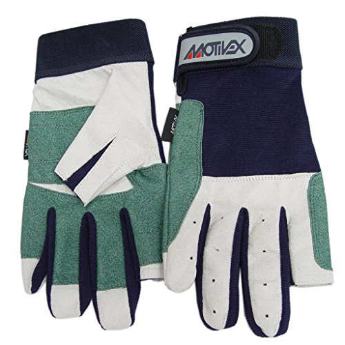 MOTIVEX Segelhandschuhe Rückseite Elastan 2 Finger geschnitten Gute Passform für Segelboot und Wassersport Handschuhe Grösse XL