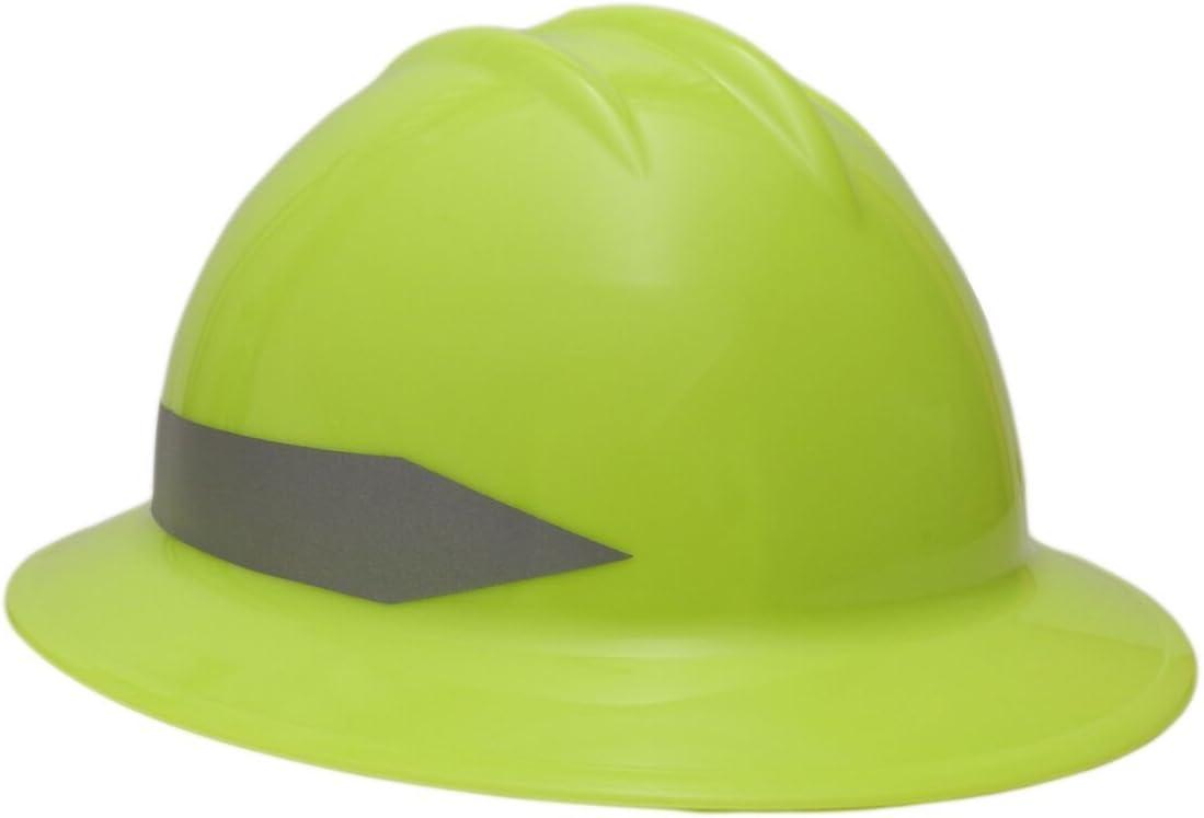 Bullard C34 New life Full Brim Hi Vis Lime Hat Reflective wi Max 56% OFF Striped Hard