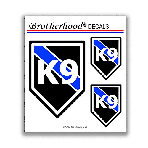 Brotherhood K9 Decal - K9 Sticker Caution K9 Stickers for Police Car 6 K9 Stickers