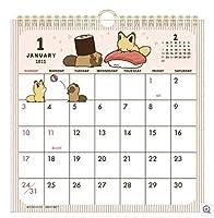 タヌキとキツネ 2021年版 カレンダー 壁掛け