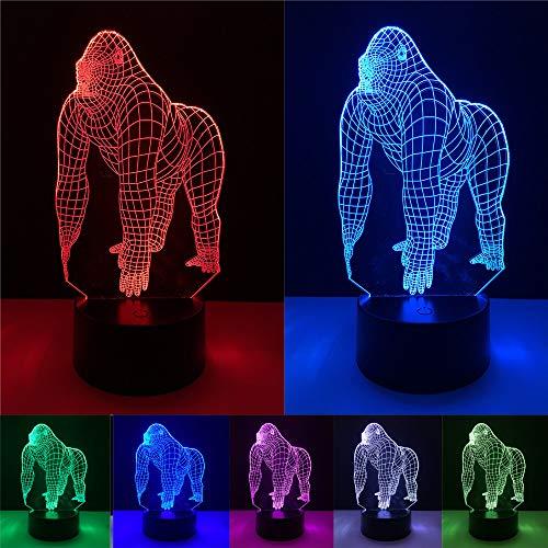 YANGHX 3D Illusion Gorilla Chimpanzee Halloween...