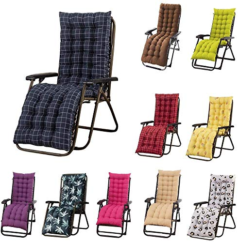 Chaise Lounge Cushion, Thick Replacement Garden Recliner Relaxer Chair Cushion for Garden, Sun Lounger Recliner Patio Garden Furniture Replacement Cushion