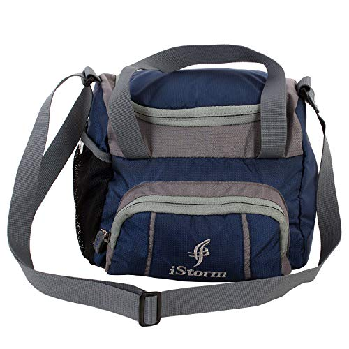 Istorm Spice Navy Blue and Grey Lunch Bag