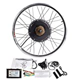 CSCbike MTB E-Bike Conversion Kit 36V 48V Mountain Electric Bicycle Rear Wheel Conversion Parts with SW900 Display Controller PAS Brake Lever(48v1000w, 29in(700c))