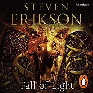 Fall of Light     The Second Book in the Kharkanas Trilogy              By:                                                                                                                                 Steven Erikson                               Narrated by:                                                                                                                                 Barnaby Edwards                      Length: 44 hrs and 40 mins     9 ratings     Overall 4.9