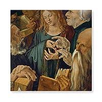 INVO イエス·ザ·ザ·ドクターズ·アルブレヒト·デュラー アートパネル アートフレーム キャンバス印刷 インテリア モダン 壁掛け 40×40cm