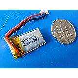 工作用リチウムイオン充電池 3.7V 約80mA 約13.6×約25.2×厚約3.3mm USBから充電 1個入<kei-712>