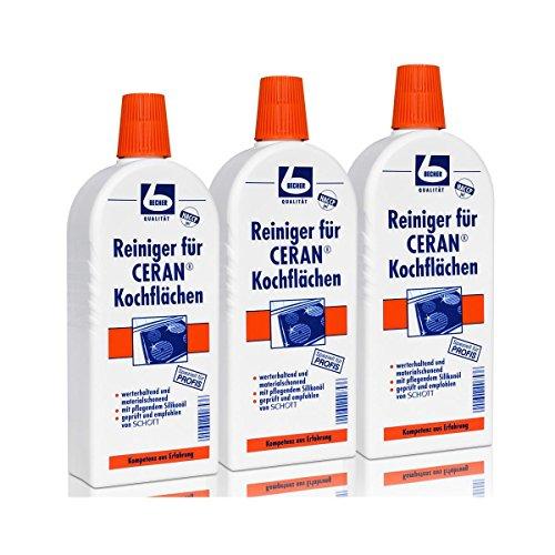 Dr. Becher reiniger voor CERAN kookplaten, set van 3 (3 x 500 ml fles)