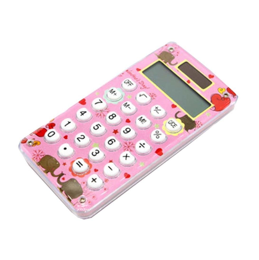 コンテンポラリー抗議振る舞いミニスリムクレジットカードソーラーパワーポケット電卓、8桁の大型ディスプレイ、F