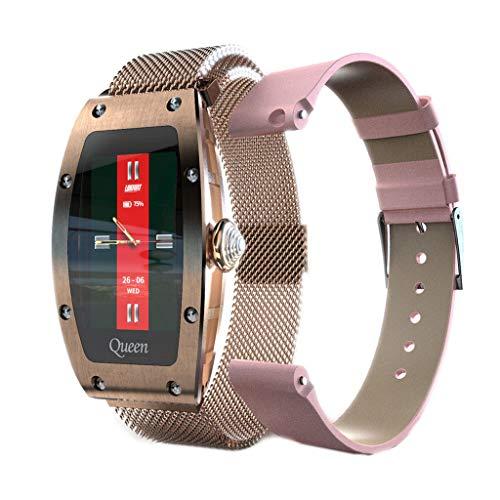APCHY Reloj inteligentesmartwatch,Mujer Monitores de Actividad con Pantalla HD de 1.14 Pulgadas Modo Deportivo múltiple monitorización del Ritmo cardíaco y del sueño Pulsera Impermeable,A