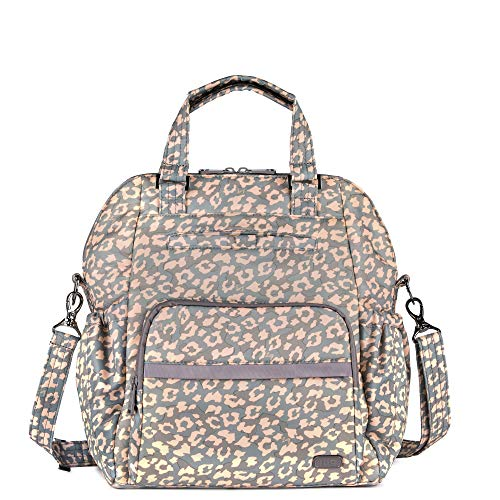 Lug Canter Shoulder Bag, Leopard Pearl