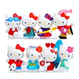 HYSTYLE 8 pcs Cute Animal Cat Characters Toys...