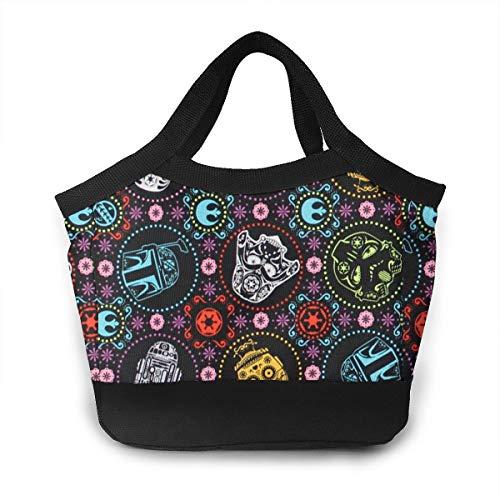 HDFVDGR Star Wars Black Lunch Bag Tote BagLeakproof Reusable Insulated Durable Cooler Lunch Bag Men & Women Work Picnic Or Travel