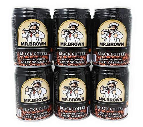 Mr. Brown Iced Coffee Black 240mL, 6 Pack