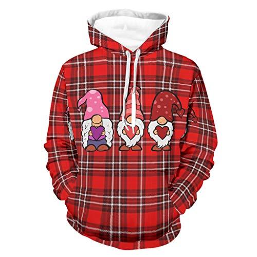 Gnome Love Gnome Lover GIF - Sudadera con capucha para hombre, con bolsillos, suave y acogedora, para hombres y mujeres