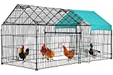 """BestPet 87"""" x 41""""Large Metal Chicken Coop,Chicken Run Cage Pens Crate Rabbit Cage Enclosure Pet Playpen Exercise Pen with Waterproof and Anti-Ultraviolet Cover for Outdoor Backyard Farm"""