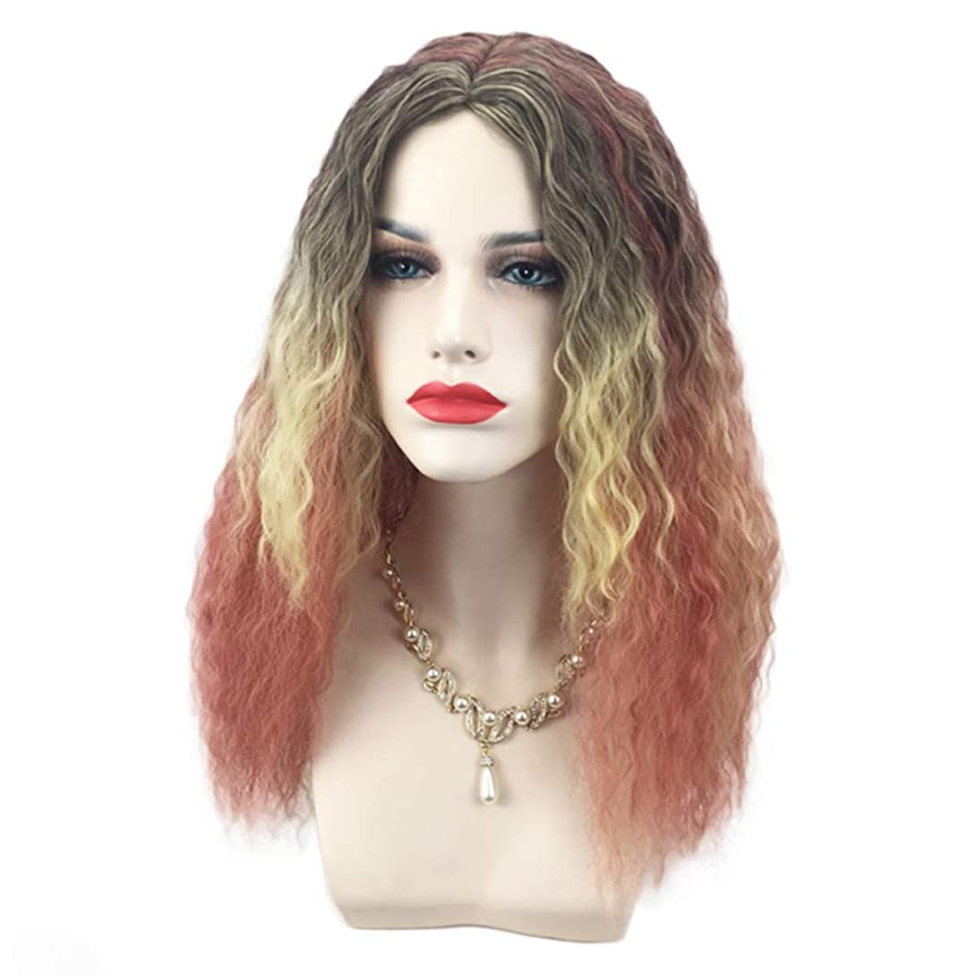 再生可能アナリストエイズかつら高品質の女性の役割を演奏長い完全なスパイラルカーリー波の熱ファッショングラマー毛のかつら